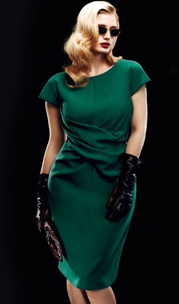 Marina Rinaldi slays it with this gorgeously elegant wrapped waist detail.
