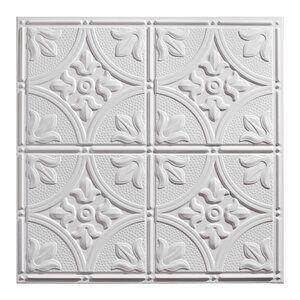 Antique 2 Ft X 2 Ft Drop In Or Grid Mount Ceiling Tile In White In 2020 Drop Ceiling Tiles Ceiling Tile Ceiling Tiles