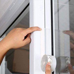 Atpwonzスキマテープ ドア下部シールテープ ドア下の隙間風対策 冷暖房効率アップ 窓枠 自動ドア 扉の隙間 防寒 防音 透明