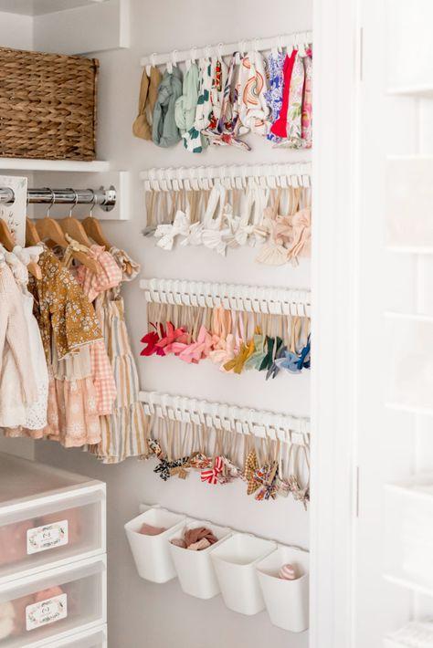 Baby Room Design, Baby Room Decor, Nursery Closet Organization, Baby Dresser Organization, Baby Closet Dividers, Organizing Baby Stuff, Organization Ideas For Bedrooms, Organize Nursery, Small Room Organization