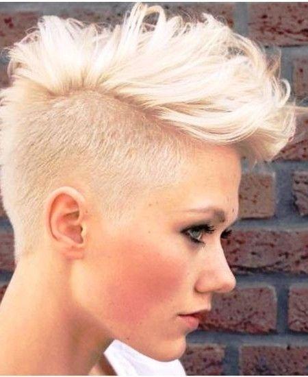 2019 Trendy Faux Hawk Hairstyles For Short Hair Best Hairstyles For Girls Mohawk Hairstyles For Women Hair Styles Short Hair Styles