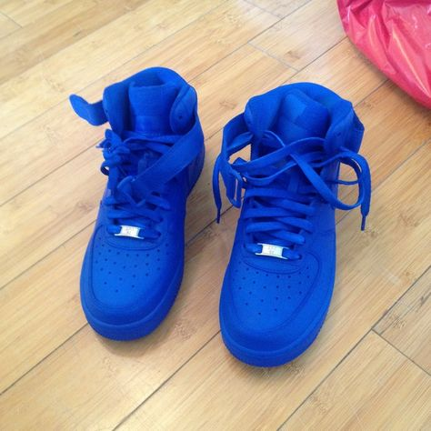 the best attitude 2136a 5f733 All Blue Air Force 1   Nike air force 1 high womens qk university blue
