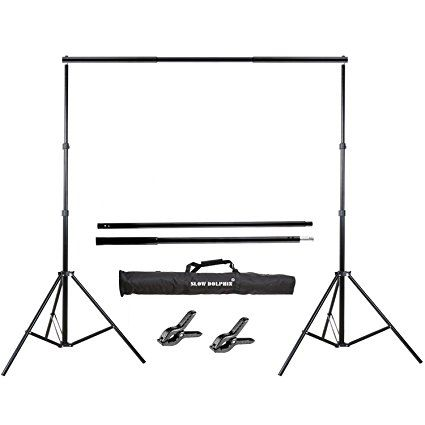 Slow Dolphin Photo Video Studio 10ft Adjustable Backdrop Support System Light Stands With Background Holder Kit Dolphin Photos Backdrop Holder Backdrops