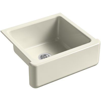 Kohler Whitehaven Self Trimming 23 11 16 L X 21 9 16 W X 9 5 8 Under Mount Single Bowl Sink With Tall Apron Finish Cane Sugar Sink Kohler Whitehaven Single Bowl Sink