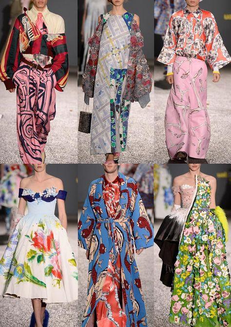 Graduate Fashion Week 2014   Catwalk Print & Pattern Highlights catwalks  Central Saint Martins