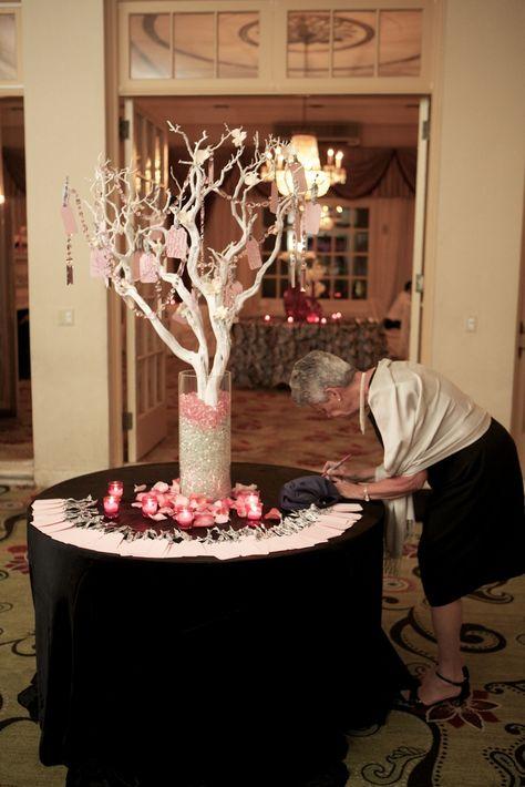 Wishing Tree-White Manzanita Branches Pink Crystals Glass beads Custom Tags