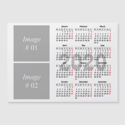2020 Calendar Magnetic Card Zazzle Com Magnetic Card Magnetic Business Cards Calendar