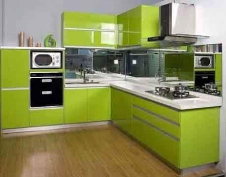Dekorasi Dapur Minimalis Warna Hijau