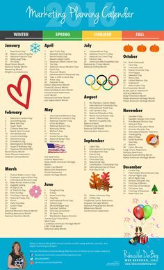2016 Marketing Planning Calendar with Monthly Worksheets to Plan Your Blog, Email, & Social Media Strategies  - Rebecca VanDenBerg Web Services