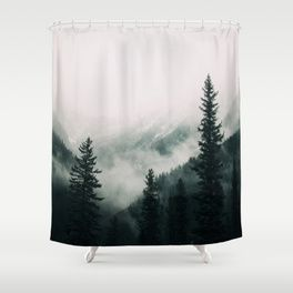 Over The Mountains And Trough The Woods Forest Nature Photography Shower Curtain Designer Shower Curtains Curtains Shower