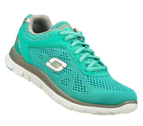 Women Skechers Flex Appeallove Your Style 11728 Sport Shoes - Rubber - Light Grey Black - 5887551mq