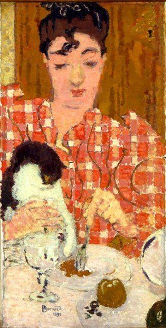 Pierre Bonnard - Le Corsage A Carreaux. Musee d'Orsay (Portrait of Madame Claude Terrasse at twenty)
