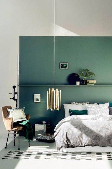 Zielona Sypialnia Hm Home Modne Kolory ścian Decor