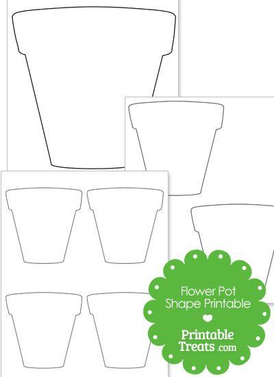 Printable Flower Pot Shape From Printabletreats Com Flower