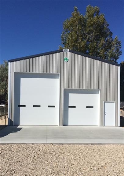 Michael And Jessica S Garage Cleary Buildings Grey Siding Building