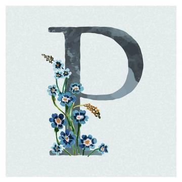 Botanical Capital Letter P Transparent Png Premium Image By Rawpixel Com Aum Lettering Alphabet Fonts Lettering Floral Letters