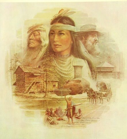 Last Beloved Woman of the Cherokees, Nancy Ward. Her husband was killed in a raid on the Creeks during the 1755 battle of Taliwa, where she fought by her husband's side, chewing the lead bullets for his rifle to make them more deadly. When he fell in battle, she sprang up from behind a log and rallied the Cherokee warriors to fight harder. Taking up a rifle, she led a charge that unnerved the Creeks and brought victory to the Cherokees.