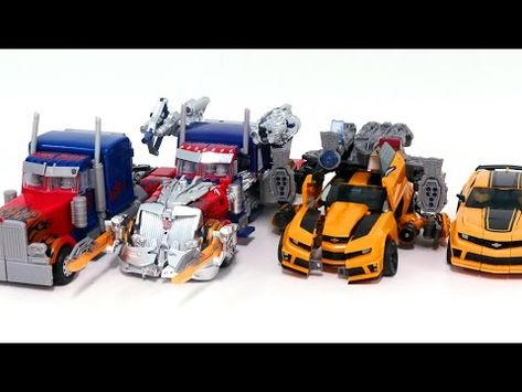 Transformers Movie 3 Dotm Leader Bumblebee Optimus Prime Same 4 Vehicles Truck Robot Car Toys Origami Koi Fish, Transformers Optimus Prime, Robot, Trucks, Toys, Vehicles, Youtube, Movies, Themed Cakes