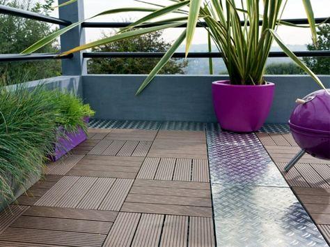 Un Balcon Bi Matière Bois Et Alu Aménagement Terrasse
