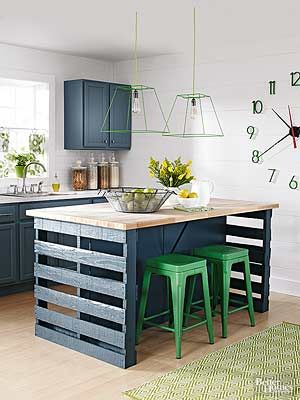 How to Build a Kitchen Island from Wood Pallets | Kitchen ...