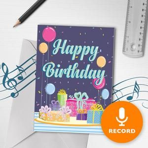 Happy Birthday Music Card Birthday Card With Button Notes Paper Handmade Greeting Card Etsy Uk In 2021 Happy Birthday Greeting Card Musical Birthday Cards Happy Birthday Music