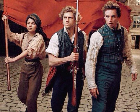 Eddie Redmayne, Aaron Tveit & Samantha Barks from a photoshoot they did for Vogue to promote their film Les Misérables back in Why didn't they use these costumes? They look so good! Theatre Nerds, Musical Theatre, Broadway Theatre, Victor Hugo, Disney Channel, Mode Masculine, Beyonce, Intj, The Rocky Horror Picture Show