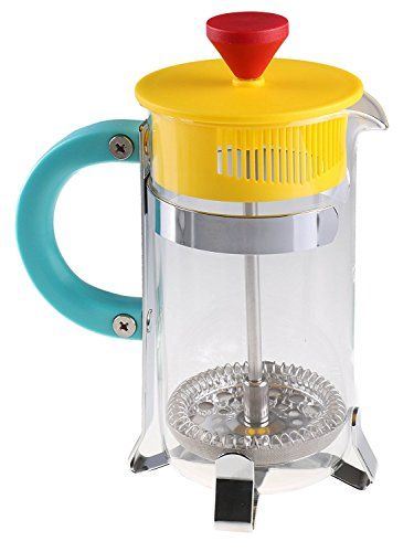 Gourmet Single Serve Matte Red Yellow And Teal Retro French Press Coffee Brewer Continue To The Product At The Image Link Note Coffee Uses Smoothie Blender