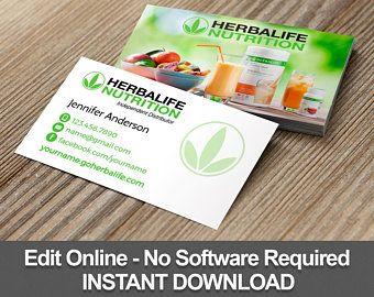 Herbalife Card Etsy In Herbalife Business Card Templates Herbalife Herbalife Business Cards Design