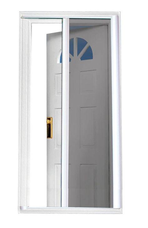 White 97 5 Inch Retractable Screen Door Fits Doors 95 Inch To 96 5