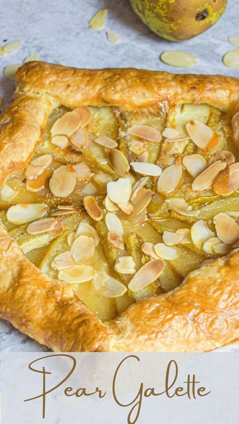 One of the easiest and most delicious pear tarts i have ever ate! #pear #galette #fallrecipe