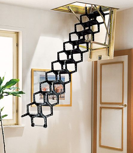 Funky Attic Pull Down Stairs... | #mrkateinspo | HOUSE EXTERIOR | Pinterest  | Attic, Stairways And House
