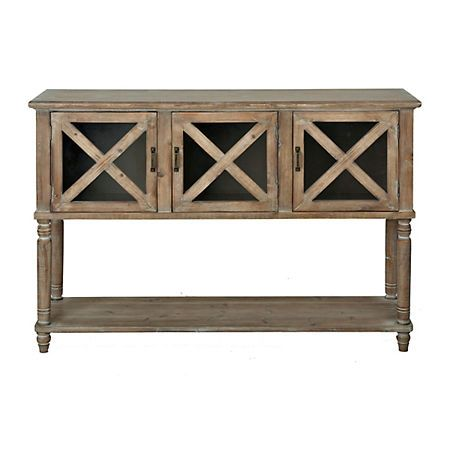 275 After 20 Discount Wood And Glass Barn Door Console Table Kirklands Barn Door Console Glass Barn Doors Glass Console Table