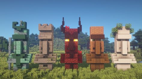 I built 5 new Villager Statue designs! [Including Tutorial] : Minecraftbuilds - Minecraft, Pubg, Lol and Minecraft Building Blueprints, Minecraft Plans, Minecraft Survival, Minecraft Tutorial, Minecraft Elevator, Minecraft Earth, Minecraft Stuff, Minecraft Cake, Minecraft Mansion