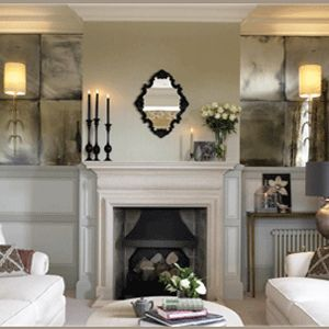 Antiqued Mirror In Alcoves