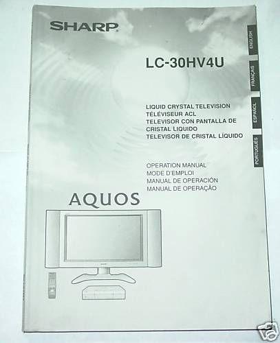 Sharp Aquos Liquid Crystal TV Owners Manual LC 30HV4U LCD   japa
