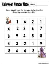 Preschool and kindergarten halloween math worksheet   Kids Crafts ...