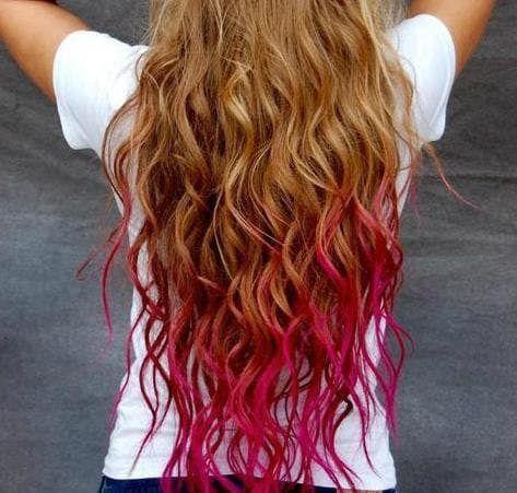 22 Cool Examples Of Hair Chalking Dip Dye Hair Red Hair Tips Best Hair Dye