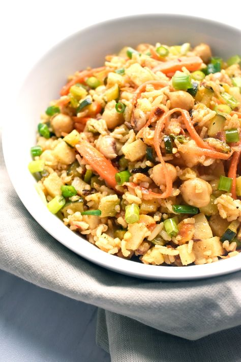 Basmati Rice Veggie Bowl With Chickpeas