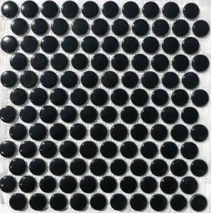 Noir Mosaique Galet De Verre Rond Vetrocristal Plaque Mosaique Emaux De Briare