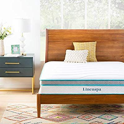 Amazon Com Linenspa 10 Inch Memory Foam And Innerspring Hybrid Mattresses Medium Feel Twin Xl Kitchen Di Best Mattress Hybrid Mattress Comfort Mattress