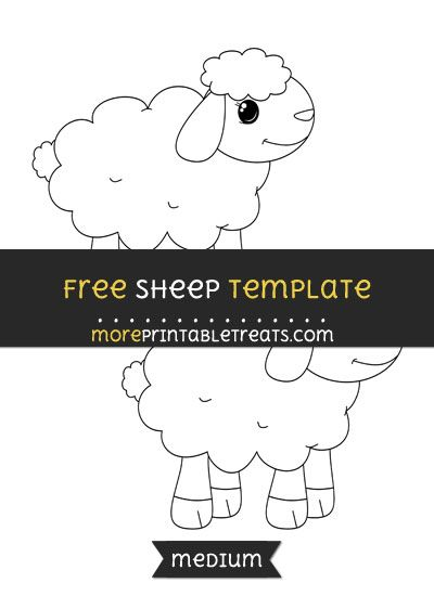 Free Sheep Template - Medium | Baby Shower Printables