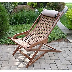Eucalyptus Swing Lounger With Beige Pillow Outdoor Loungers
