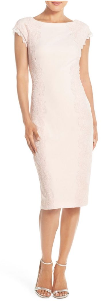 Pretty lace sheath midi dress