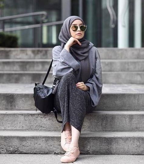 أزياء الفاشونيستا للمحجبات , ملابس ع الموضه للمحجبات 2021 856254b38840f72a26f0