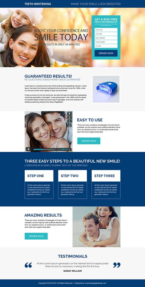 beautiful-white-teeth-product-resp-lp-005 | Teeth Whitening Landing Page Design preview.