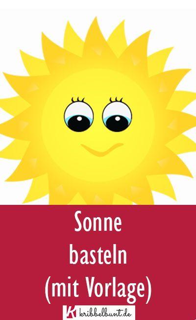 Sonne Vorlage Zum Ausdrucken Als Pdf In 2020 Sonne Basteln Kindergeburtstag Basteln Basteln Fruhling Kinder