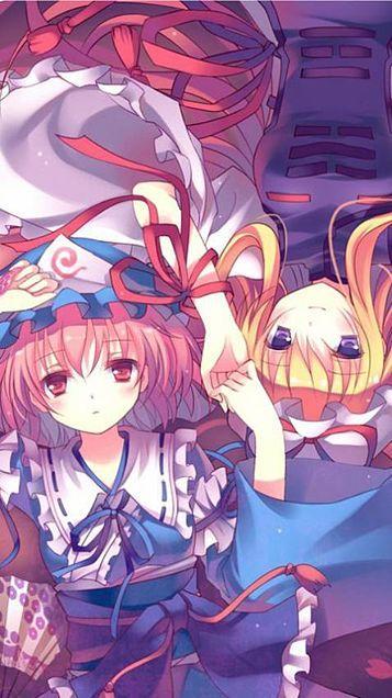 東方 touhou 幽々子 紫 anime anime art art