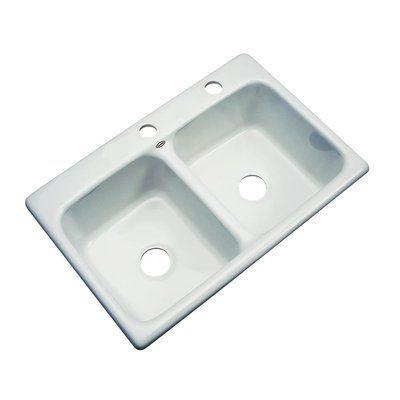 Solidcast Charleston 33 L X 22 W Kitchen Sink Wayfair In 2020 Double Bowl Kitchen Sink Sink Kitchen Sink