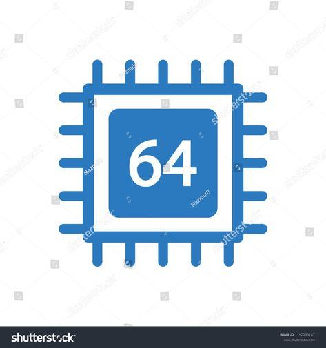 chip 64 bit semiconductor iconchip#bit#icon#semiconductor