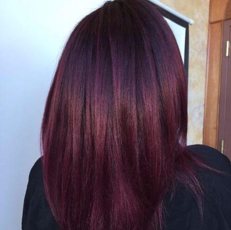 Haarfarbe pflaume